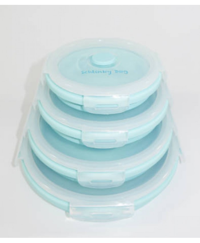 4 Piece Combo Collapsible Silicone Food Containers