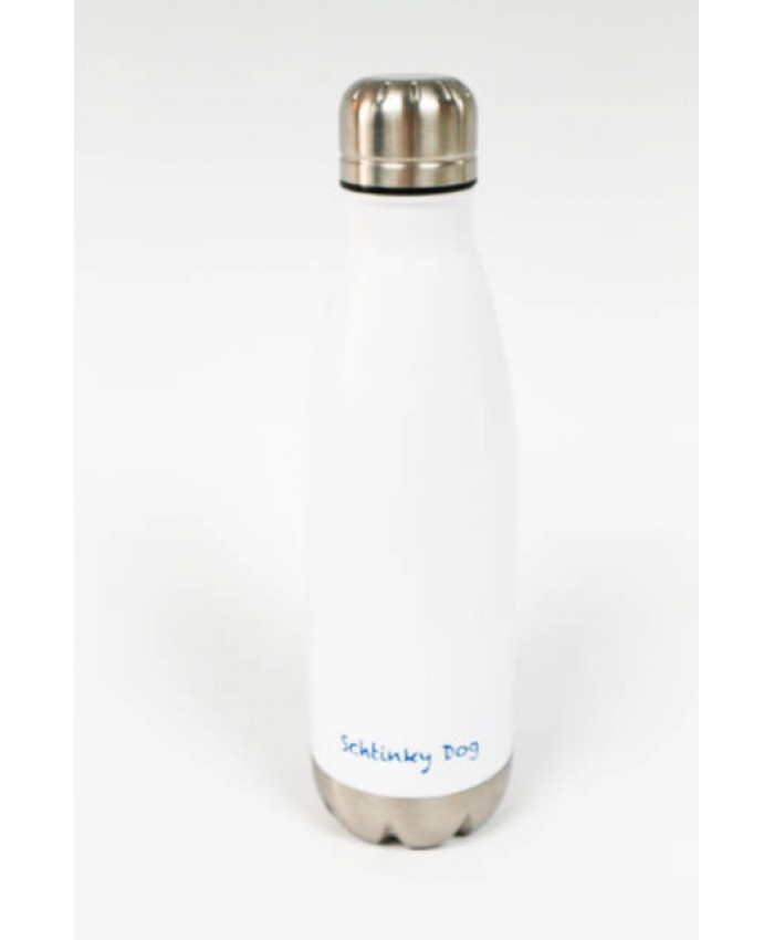 Double walled Vacuum Water Bottle - White